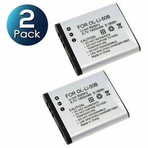 2x LI-50B BATTERY FOR OLYMPUS TG-820 iHS STYLUS Tough 6020 8000