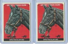 (2) 2013 SPORT KINGS SPECTACULAR BID CARD #296 LOT BASE & PREMIUM KENTUCKY DERBY