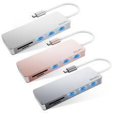 Aluminum Usb Type-C 5in1 Hub Adapter 3 Usb 3.0 Sd/Micro Card Reader for Macbook