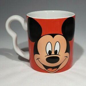 3D Mickey Mouse Red Mug Hidden Mickey Handle Disney Monogram International EUC