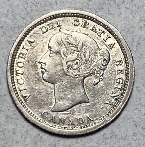 1870 Canada Queen Victoria Silver 5 Cents