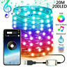 20M LED String Lights For Christmas Tree Decoration App Remote Control