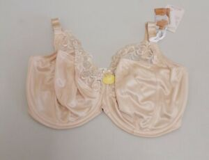 Natural Embroidery & Microfibre 'Gilda' Underwired Non-Padded Balcony Bra {B86}