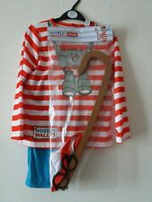 WORLD BOOK DAY WHERE'S WALLY OUTFIT / FANCY DRESS /. BNWT. 7-8 YEARS.