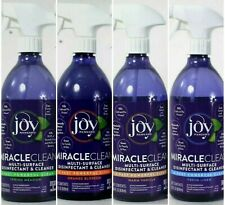 JOY MANGANO MIRACLECLEAN Orange Vanilla Spring Linen Disinfectant Cleaner 4-28oz