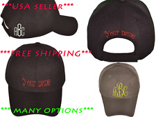 CUSTOM PERSONALIZED EMBROIDERED Structured Baseball Hat Cap FREE SHIPPING HI Q