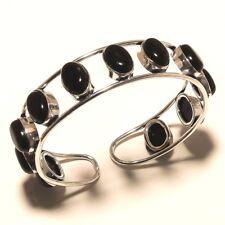 Bracelet Cuff Bangel Jewelry P97 Black Onyx Silver Overlay Gemstone