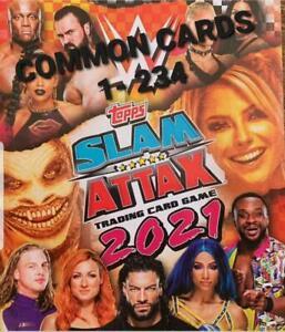 Slam Attax 2021 Trading Card Singles 1-234 (Topps, 2021) MULTI-BUY DISCOUNT