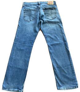 Levi's 559 STRETCH 33x32 Relaxed Straight Blue Jeans Flex Denim