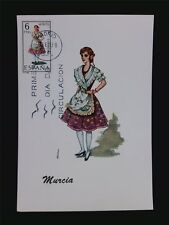 SPANIEN MK 1969 TRACHTEN MURCIA COSTUMES MAXIMUMKARTE MAXIMUM CARD MC CM c5505