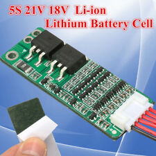 5S 15A Protection Board Li-ion Lithium Battery BMS 18650 Charger 18V 21V Cell US