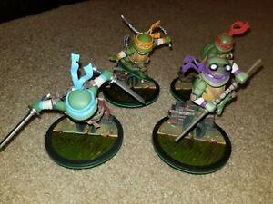 QMx Raph Leo Donny Mikey Teenage Mutant Ninja Turtles Q-Fig Set of 4 No Boxes