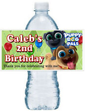 20 PUPPY DOG PALS BIRTHDAY FAVORS WATER BOTTLE LABELS ~ Glossy ~ Waterproof