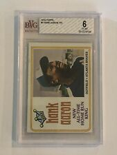 1974 TOPPS #1 HANK AARON  ALL TIME HR LEADER BVG 6 EX-MT