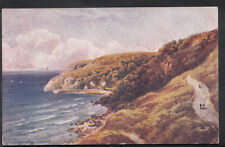 Devon Postcard - Artist View of Babbicombe, Torquay  RS4586