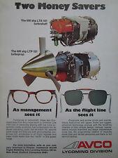 11/1972 PUB AVCO LYCOMING LTS 101 TURBOSHAFT LTP 101 TURBOPROP ORIGINAL AD