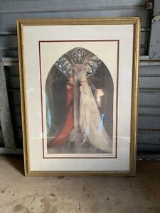 "1928 LOUIS ICART ""FAUST"" Framed & Matted Print, DEVIL & WOMAN"