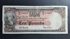 Australian  1960 10 pound banknote Repeater WA32