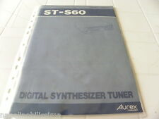 Toshiba Aurex ST-S60 Owner's Manual  Operating Instructions Istruzioni