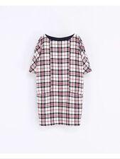 Zara Check Dresses Short Sleeve