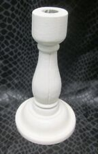 "Two's Company White Wood shabby chic Candlestick 8"" candle holder"