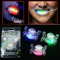 Hot LED Light up Flashing Mouth Piece Glow Teeth For Halloween Party Rave Event