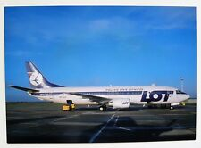 LOT Polish Airlines Boeing 737-45D postcard