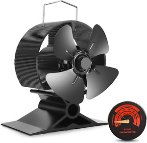 Mini Ecoflow 2022 Log/Stove Burner Heat Powered Fan + therm For Small Spaces