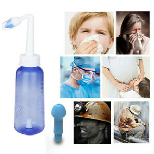 300ml Nasal Irrigation Portable Nose Cleaner Rinsing Wash Pot Adults Child