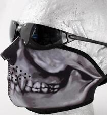 NEW Realistic Skull Warm Neoprene Half Face Biker MOTORCYCLE Ski Mask