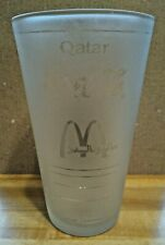 Hard to Find Coca-Cola/McDonald's Middle East-Qatar Graphic Frosted Pint Glass