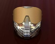 Paint Ball Mask Ring, Men's Silver Ring 925 Sterling Silver
