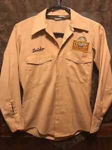 SCHLITZ BREWING Milwaukee VINTAGE ~ SM ~ Unitog Beer Delivery Work Shirt PBR USA