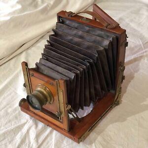 Alte Holzplattenkamera Reisekamera Mahagoni 11x15cm Obj. Thornton Pickard
