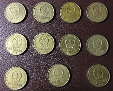 a full set of 11pcs china 5 jiao blum blossom coin 1991-2001 XF