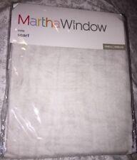 Martha Stewart Window Voile Scarf Moonbeam 60X144 NEW!!!