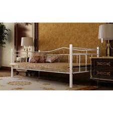 Neu Metallbett Bettgestell Schlafzimmerbett mit Matratze 90 x 200 cm weiß P8R9