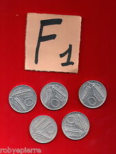 lotto 10 lire repubblica italiana italy 5 monete coins 1955 1979 1980 1981 82