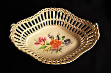 Dresden porcelain basket Heavily Reticulated Circa 1880