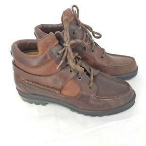 Timberland Goretex Womens Sz 7.5 M Hiking Brown Leather Waterproof Chukka Boots