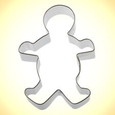 Gingerbread Man Cookie Cutter 5 in B70 - Foose Cookie Cutters - US Tin Steel