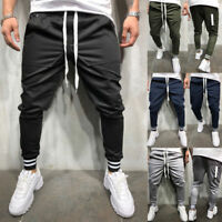 Men Track Pants Skinny Casual Sports Jogging Joggers Gym Fitness Sweats Trousers