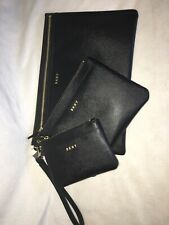 DKNY VELA TRIPLE R9321F12 3PC Clutch Pouch Wallet Wristlet new