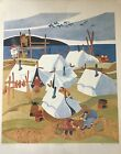 """""""SUMMER CAMP"""" by Rie Munoz Rare 1982 Signed Print #333/750. New, in shrink wrap."""