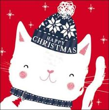 Pack of 5 Cute Cat Action For Children Charity Christmas Cards Xmas Card Packs