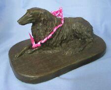 """1980s Cc Bronze Borzoi Australia Dog 6"""""""