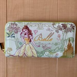 Disney Long Wallet Beauty and the Beast Belle Round Zipper Green