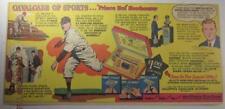HAL NEWHOUSER DETROIT TIGER 1949 SUNDAY COMIC BASEBALL GILLETTE RAZOR AD