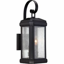 Quoizel TML8407K Two-Light Outdoor Wall Lantern Fixture Black Finish