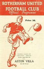 1961 LEAGUE CUP FINAL - ROTHERHAM UNITED v ASTON VILLA (RARE)